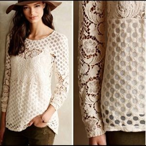 Anthropologie Sunday in Brooklyn crochet lace top